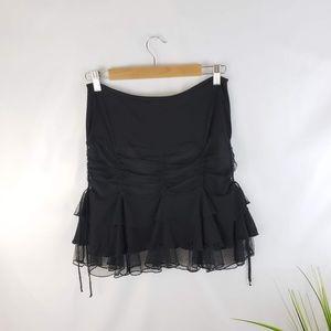 Betsey Johnson Black Tulle Adorned Skirt Size S
